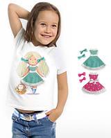 """Футболка и 2 сменных платья """"Doll Katy""""; 3, 4, 5, 6-7, 8-9, 10-11, 12-13 лет, фото 1"""
