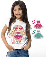 """Футболка и 2 сменных платья """"Doll Lizi""""; 3, 4, 5, 6-7, 8-9, 10-11, 12-13 лет"""
