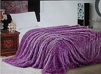 Покрывало травка 220*240 плед (искусственный мех) фиолетовое