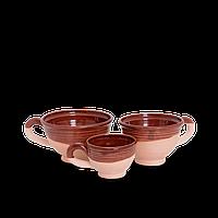Чашка (филижанка) широкая глиняная Gloss CF03 Покутская керамика 0,1 литра