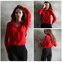 Шифоновая блуза. Красная