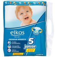 Подгузники Elkos Элкос 5 Junior, 11-25 кг, 36 шт., Германия