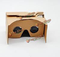 """3D очки виртуальной реальности 4.7-5.5"""" картонные"""