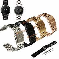 Из нержавеющей стали группы часы браслет ремешок с инструментами для Motorola Moto 360 второго 46мм