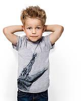 "Футболка для мальчика с карманом ""BiBi Crocodile Gray""; 3, 4, 5, 6-7, 8-9, 10-11, 12-13 лет"