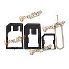 Микро+стандартная+нано SIM-карта адаптеры+извлечения пин-кода для смартфон, фото 3