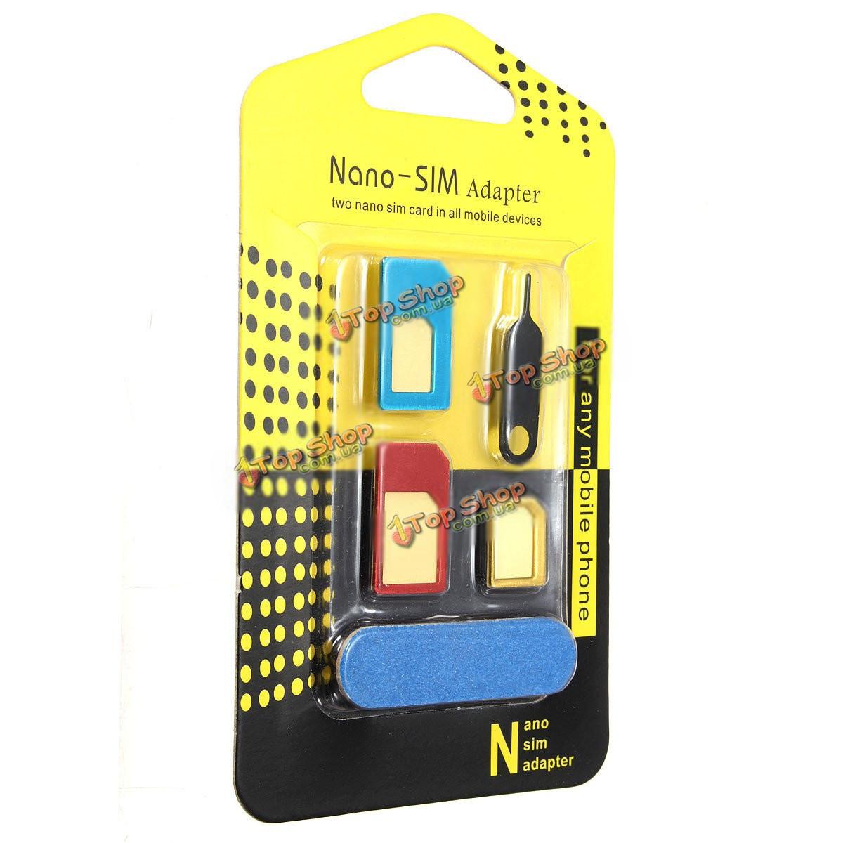 Универсальный нано сим-карта Micro сим-карта в стандартной SIM-карта адаптера преобразователя