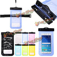 Универсальный водонепроницаемый IPX8 Underwater Dry Bag Pouch Case для мобильного телефона Under 6-дюймов, фото 1