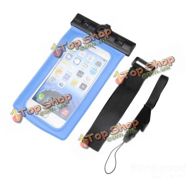 Водонепроницаемый запечатанном чехол сухой мешок с термометр ремень руки ремешком для мобильного телефона