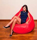 Червоне крісло-мішок груша 120*90 см з тканини Оксфорд, фото 2