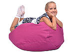 Малиновое кресло-мешок груша 100*75 см из микро-рогожки, фото 6