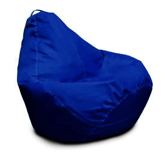 Синє крісло-мішок груша 120*90 см з тканини Оксфорд