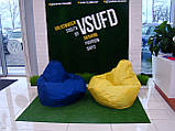 Синє крісло-мішок груша 120*90 см з тканини Оксфорд, фото 5