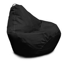 Черное кресло-мешок груша 120*90 см из ткани Оксфорд