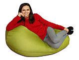 Салатовое кресло-мешок груша 120*90 см из микророгожки, фото 6