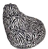 Кресло-мешок груша Зебра 120*90 см из искусственного меха, фото 3