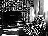 Крісло-мішок груша Зебра 120*90 см з штучного хутра, фото 4