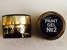 Гель фарба для нігтів SP 2 чорна