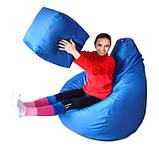 Мега большое кресло-мешок груша синее 140*100 см из ткани Оксфорд, фото 3