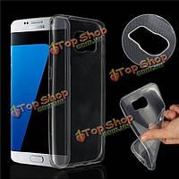 Slim Crystal Clear прозрачный мягкий силиконовый защитный чехол TPU задняя крышка для Samsung s7 Edge