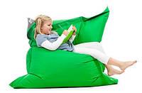 Ярко зеленое кресло мешок подушка 120*140 см из микро-рогожки, кресло-мат