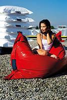 Красное кресло мешок подушка 120*140 см из кож зама, кресло-мат