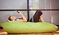 Велюровое кресло мешок подушка салатовое 120*140 см, кресло-мат