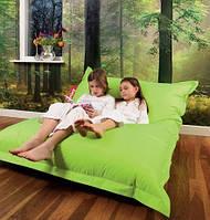 Зеленое кресло мешок подушка 140*180 см из микро-рогожки, кресло-мат