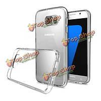 Slim Crystal Clear прозрачный мягкий силиконовый случай TPU задняя крышка для Samsung s7