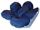Бескаркасное кресло мешок Цветочек сине-белое из ткани Оксфорд, фото 2