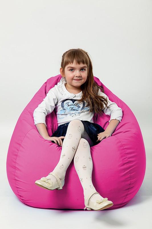 Детское кресло мешок груша малиновое 100*75 см из микро-рогожки