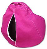 Детское кресло мешок груша малиновое 100*75 см из микро-рогожки, фото 3