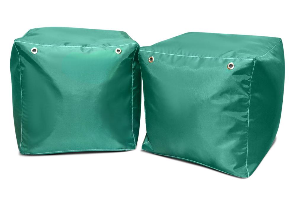 Зеленый пуфик кубик 35*35*35 см из ткани Оксфорд