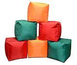 Зеленый пуфик кубик 35*35*35 см из ткани Оксфорд, фото 2