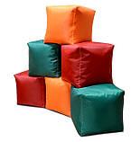 Зеленый пуфик кубик 35*35*35 см из ткани Оксфорд, фото 3
