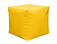 Пуфик кубик 35*35*35 см желтый из микро-рогожки