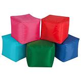 Пуф кубик 45*45*45 см зеленый из ткани Оксфорд, фото 2