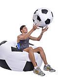 Кресло-мяч 130 см из кожзаа Зевс черно-белое, кресло-мешок мяч, фото 3