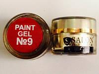 Гель краска для ногтей SP 9 классический красный