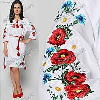 Женское платье с вышивкой гладью Красные маки. Вишита жіноча сукня ... 918cb4f9b828e