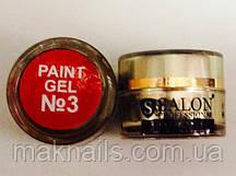 Гель фарба для нігтів SP 3 червона червона
