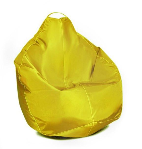 Бежевое кресло-мешок груша 100*75 см из ткани Оксфорд S-100*75 см, Желтый