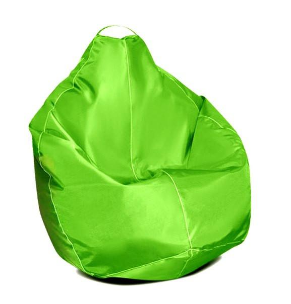 Бежеве крісло-мішок груша 100*75 см з тканини Оксфорд S-100*75 см, Салатовий