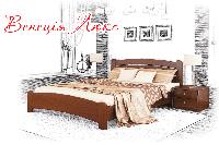 Ліжко дерев'яне букове Венеція Люкс (Масив), фото 1