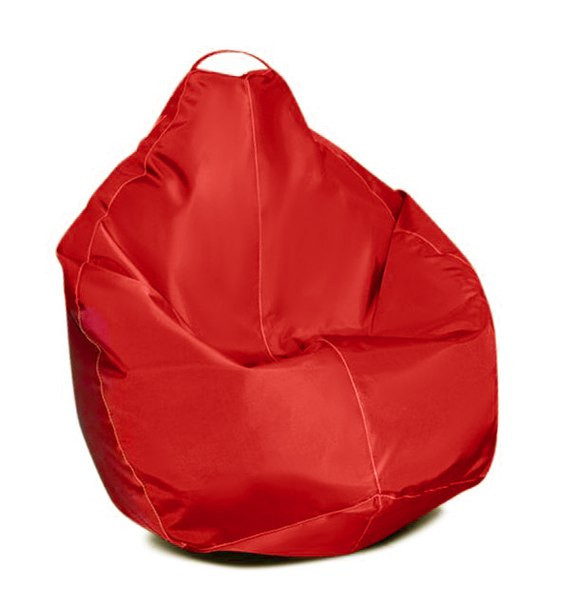 Салатовое кресло-мешок груша 100*75 см из ткани Оксфорд S-100*75 см, красн