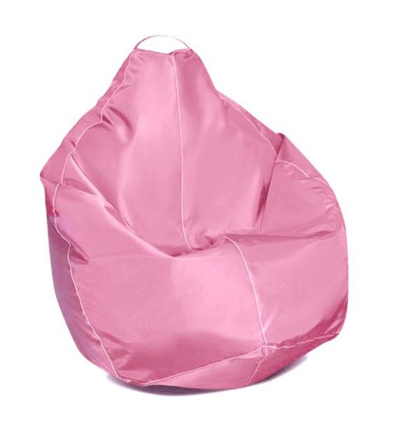 Оранжевое кресло-мешок груша 100*75 см из ткани Оксфорд S-100*75 см, Розовый