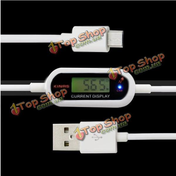 Kinrs Smart Micro-USB кабель с ЖК-текущий дисплей для смартфон