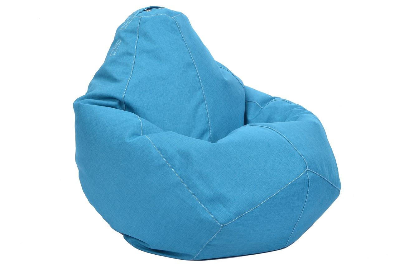 Бледно-сиреневое кресло-мешок груша 100*75 см из микро-рогожки S-100*75 см, голубой