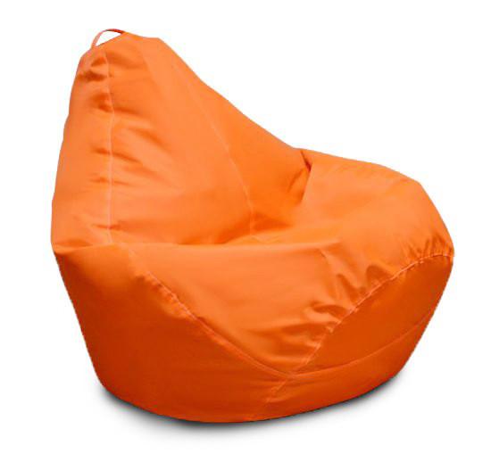 Розовое кресло-мешок груша 120*90 см из ткани Оксфорд оранжевый