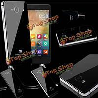 Тонкий металлический бампер + закаленное стекло для Xiaomi hongmi 2 Redmi 2